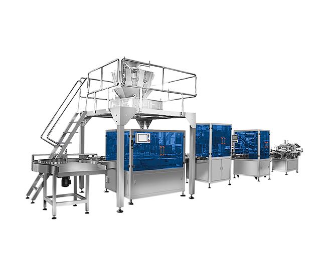 颗粒产品自动称重灌装生产线